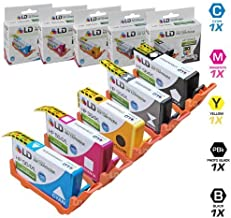 LD ©Remanufactured Replacement Inkjet Cartridges for Hewlett Packard (HP) 564XL: 1 Black CN684WN, Photo Black (5 Pack) CB322WN, Cyan CB323WN, Magenta CB324WN, Yellow CB325WN- Shows Accurate Ink Levels