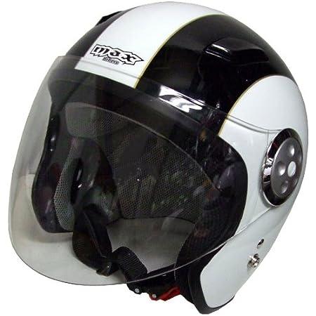 マックス(MAX) パイロットヘルメット MAX-III ホワイト/ブラック MAX-IIIWH/BK