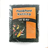Gardener House Large Swimming Pool Leaf Net-Cover The Pond Away Form The Birds,Owls- Black 14' x 45'