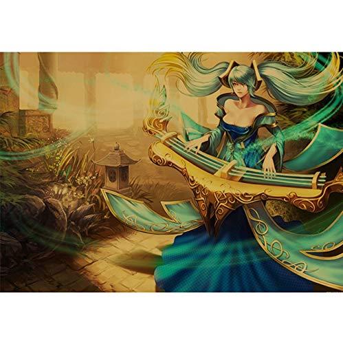 Xin Yao Store League of Legends Retro-Stil Poster Internet-Café Modern Fashion Home Decoration Malerei Hohe Qualität Leinwand Malerei (Rahmenlos) 50X60Cm (N: 1259)