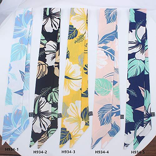 WEJNNI imitatie zijden sjaal Leaf groen blad dames kleine sjaal