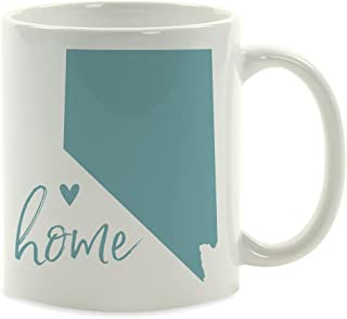 Andaz Press 11oz. US State Coffee Mug Gift, Aqua Home Heart, Nevada, 1-Pack, Unique Hostess Distance Moving Away Christmas Birthday Gifts for Her