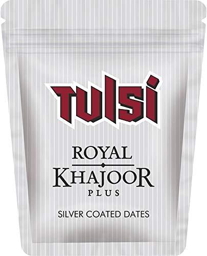 FCS Tulsi Royal Khajoor Plus Silver Coated Dates - Pack of 8 Sachet