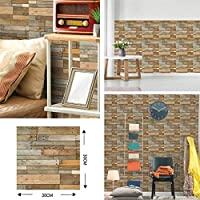 ウォールステッカーステッカー壁紙 台所の壁パネルウォールステッカー浴室DIY壁飾りホームデコレーションのための近代的な自己接着壁紙3D模造レンガタイル (Color : 3D 514, Dimensions : 12 pieces)