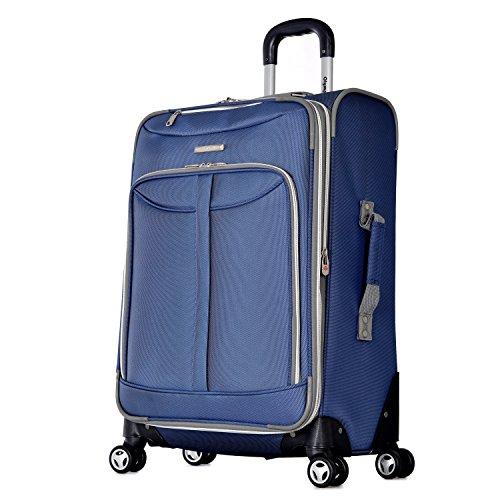 Olympia Gepäck Toskana 63,5cm erweiterbar Vertikal Rolling Gepäck Tasche, blau (Blau) - OE-8825-BU