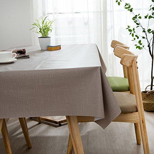 Ommda Nappe de Table Rectangulaire PVC Imperméable pour Picnique 140x180cm Gris Clair