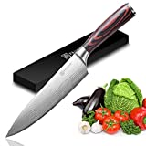 Chef's Knife - PAUDIN Pro Kitchen Knife, 8-Inch Chef's Knife N1 made of German High Carbon Stainless Steel,...
