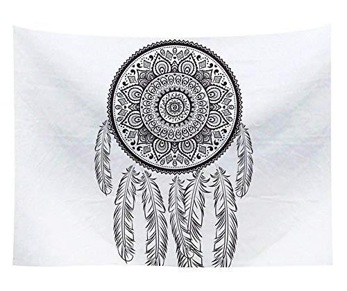 Tapices de Yin Yang Paño de Pared en Blanco y Negro Impreso Tapiz de Mandala Colgante de Pared Decoración para el hogar Cubierta Alfombra de pared-T100P10_150x150CM