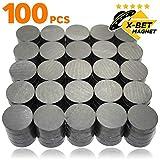 Keramik-Magnete - X-bet MAGNET ™ 100 Stück Kühlschrankmagnete - 18x5 mm Magnete rund - Ferrit...