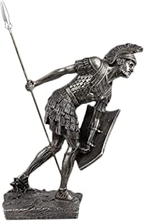 Decoration FJH Roman Soldier Modeling Ornaments Sculpture Porch Living Room Corridor Hotel Lobby Cafe High-end (Color : Ancient Silver)