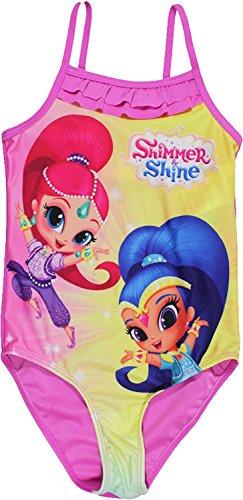 Shimmer and Shine Costumi da bagno ufficiali firmati Nickelodeon Girls (3-4 Anni , Pink)