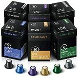 Rosso Coffee Capsules for Nespresso Original Machine - 120 Gourmet Espresso Pods, Compatible with Nespresso Original Line Machines (Variety 120)