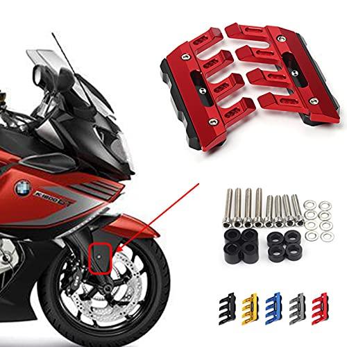 ZMMWDE Motorrad CNC Zubehör Kotflügel Seite vorne Kotflügel Schieber,Für BMW K1600B K1600GT K1600GTL C650 C650GT F800GT K1200R C650 Sport Rot