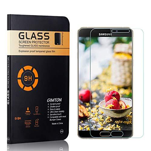GIMTON Displayschutzfolie für Galaxy A9 Star, 9H Härte, Blasenfrei, Anti Öl, Ultra Dünn Kratzfest Schutzfolie aus Gehärtetem Glas für Samsung Galaxy A9 Star, 2 Stück