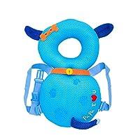 ヘッドガードクッション 転倒防止 クッション お守り ごっつん リュック どうぶつ メッシュ ベビー用品 乳児 赤ちゃん 頭 保護 (ミツバチ(メッシュ))