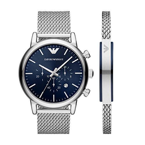 Emporio Armani - Reloj de vestir para hombre, con cronógrafo y movimiento de cuarzo