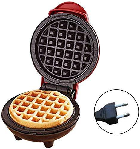 Cratone Waffeleisen Electric Mini Rot Haushalts Waffle Maker Für Einzelne Waffeln, Haushaltsbackform Waffelautomat für individuelle Pfannkuchen Plätzchen Kekse