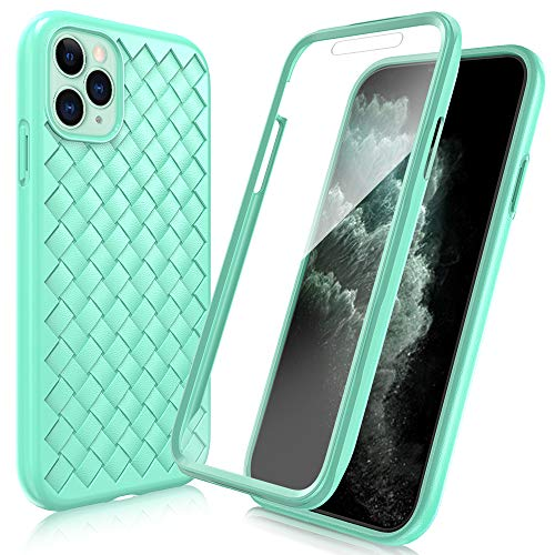 FYY [Anti-Germs Antibacterial Case] for iPhone 11 Pro Max 6.5\u0026quot;, [Built-in Screen Protector] Heavy Duty Protection Full Body Protective Bumper Case Cover for Apple iPhone 11 Pro Max 6.5\u0026quot; Mint Green
