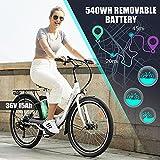 BIKFUN Elektrofahrrad, 20 Zoll E-Bike, Lithium-Akku - 8
