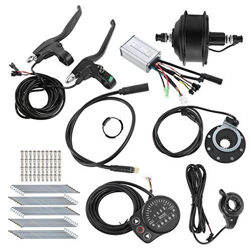 RiToEasysports 48V 250W Kit de conversión de Bicicleta eléctrica Kit de Motor de buje de Bicicleta eléctrica con Controlador Medidor KT-900S para Llantas de 20 Pulgadas(Motor de Casete Trasero)