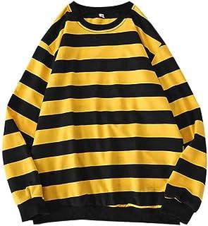 TAWXR Uomo Classic a righe Pullover Maschio Felpa