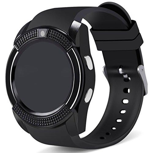 XHZNDZ Bluetooth Smartwatch Touchscreen Armbanduhr mit Kamera/SIM-Karte, wasserdichtes Telefon Smart Watch Sport Fitness Tracker für Android iPhone IOS Handys Huawei für Kinder Frauen Männer