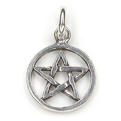 Drachensilber Pentagramm Schmuck Anhänger 925er Silber Hexenstern Amulett magisch keltischer Kettenanhänger