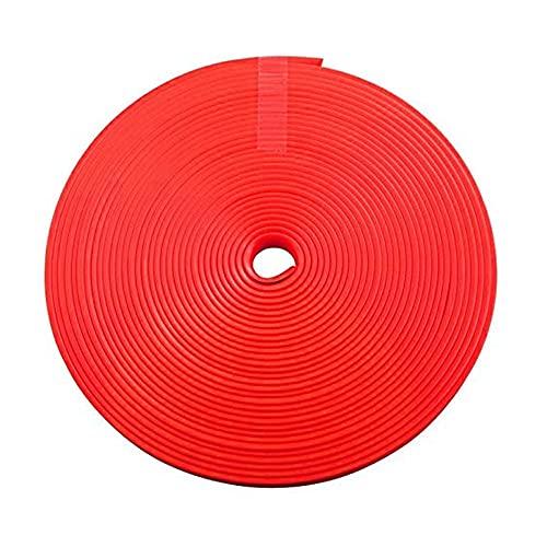YMXDXTY 8 M Coche Decorativo Rueda Rueda Protector Hub Pegatina Rim Guard Caucho Strip Anti Rasping Auto Coche Decorativo Estilo Decorativo (Color : Rojo)
