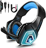 Babacom Gaming Headset, for Xbox One PS4 Headset with Noise Canceling Microphone & LED Light, Over-Ear Gaming...