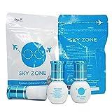 100 Bottles Sky Zone Eyelash Extension Glue 5ml, Professional Black Bonding Adhesive for Long Lasting Eyelash Extensions, 1-2s Fast Drying, 5-6 Week Retention
