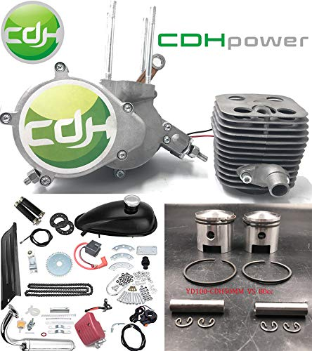 CDHPOWER 2 Stroke Gas Bicycle Engine kit YD100 CDH50mm Unassembled Gas Motor Kit-Gas Motorized Bicycle YD100-CDH 79CC/80CC Engine Kit