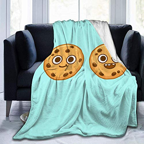Sweet grape 3D Fleece Bed Blankets, Cartoon Cute Cookie Halloween Throw Blankets, Spring Ultra Soft Large Game Blanket for Women Living Room Dorm Room - 50' X 40'