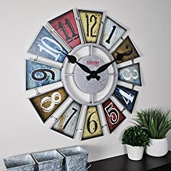 FirsTime & Co. FirsTime Numeral Windmill Wall Clock, 24, Multicolor