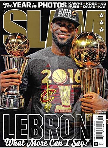 SLAM Magazine (September, 2016) LEBRON JAMES Cover, CAVS 2016 NBA Champs, Kawhi, Kobe, KD