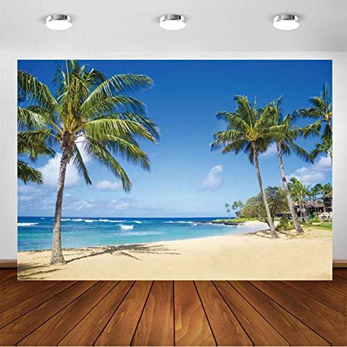 Verano Mar Playa Océano Nube Coco Árbol Vista Photocall Fondo Boda Niño Fotografía Foto Estudio Prop Paisaje Fondo