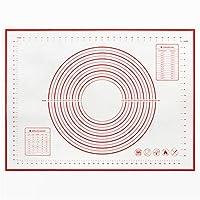 ン滑り止め クッキングマット シリコーンの混練マットの滑り止めの非スティックベーキングマットローリングマットと生地マットは複数サイズで入手可能です (色 : Red, Size : 60x80cm)