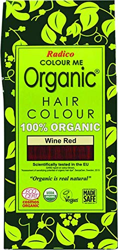 Radico Colour Me Organic 100% Natural Hair Dye (Wine Red) by Radico