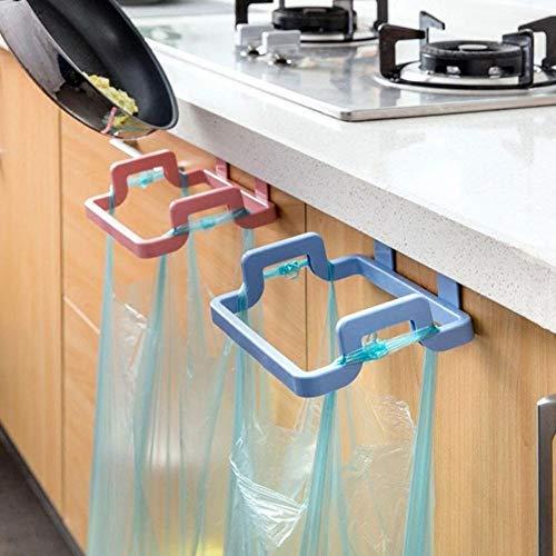 LANKOULI 5pc / 10pc Schranktür Zurück hängende Müllablage Lagerung Küche Müll Müllsack Dosenhalter Hängende Küchenschrank Müll Küchenmüll