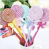 Lumanuby 6X Lollipops Kugelschreiber aus Kunststoff Bunte Lutscher Ballpoint Pen mit Bowknot Süßes Geschenk für Mädchen Studenten Zufällige Farbe,Stift Serie