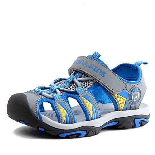 Geschlossene Sandalen Kinder Outdoor Sports Trekking Schuhe rutschfest Faltbar Jungen Strand Schuhe Atmungsaktiv Schnell Trocknend Grau Gr.27