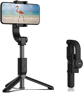 NMD&LR Stabilizer Selfie Stick, Portable Mobile Phone Anti-Shake Bluetooth Single Axis Gimbal Stabilizer Selfie Stick Trip...