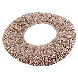 Ndier Copriwater igienico spesso rotondo tipo di sedile del WC copertura universale del tappetino del mouse per il bagno