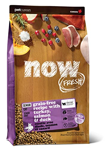 ナウフレッシュ(NOW FRESH) グレインフリー キャットフード シニアキャット&ウェイトマネジメント シニア猫用 体重コントロール用 小粒 全猫種 無添加 ミールフリー (1.36kg)