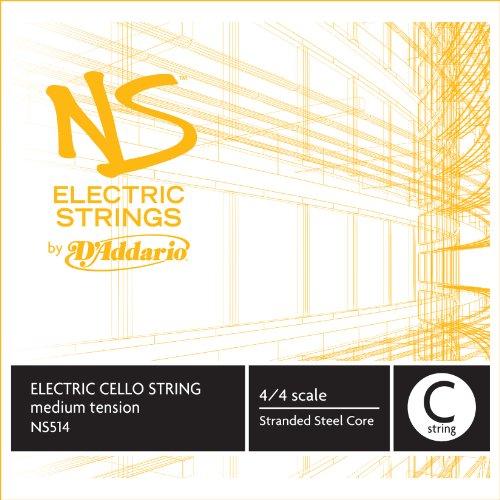 D'Addario NS514 - Cuerda para violonchelo eléctrico de acero en Do, 4/4 (tensión media)