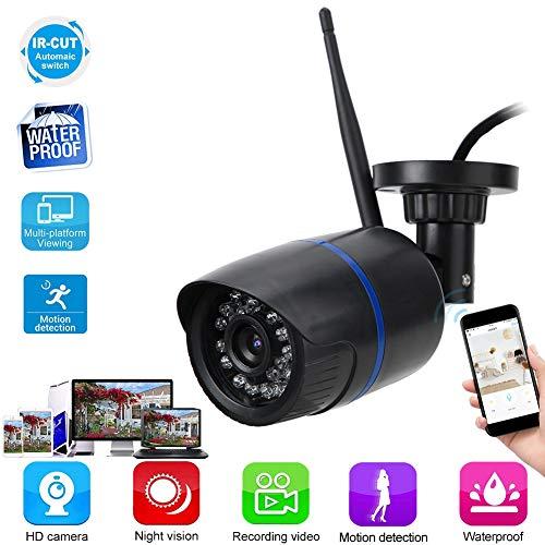 Beveiliging IP-camera HD Draadloos netwerk IP Binnen Buiten Waterdicht Infrarood Bewakingscamera voor thuiskantoor Patio (EU)