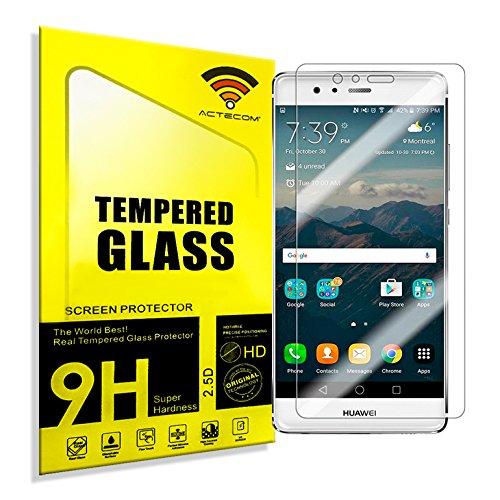cogac ACTECOM® Protector Pantalla para Huawei P9 Lite 2.5D 9H 0,3MM Cristal Vidrio Templado