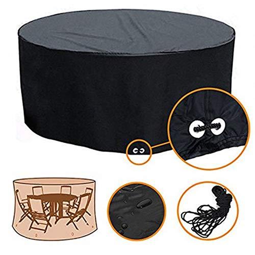 LICCC Cubierta de los Muebles mesas de jardín al Aire Libre y Cubierta de sillas, a Prueba de Agua, Cubiertas for Muebles de jardín balcón, protección Solar (Color : Black, Size : 183X94CM)