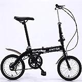 ZXM Vélo Pliant de 14 Pouces, vélo Pliant Ultra-léger pour Hommes et Femmes Adultes, vélo d'équitation en Alliage d'aluminium