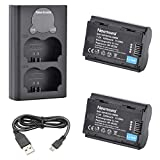 Newmowa NP-W235 Replacement Battery (2 Pack) and Smart LCD Display Dual USB Battery Charger for Fujifilm X-T4
