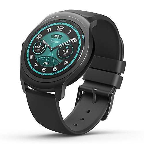 Ticwatch 2 Active 42mm Ultra Light, Silky Smooth Smartwatch - Charcoal- Mobvoi Voice Contral Ticwear OS Compatible with Android and iOS,Your Smart Fitness Companion